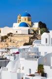 St George Church in Oia village on Santorini island, Greece Stock Photos