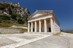 St. George church, Old Fortress, Corfu Royalty Free Stock Images
