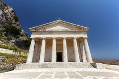 St. George church, Old Fortress, Corfu Royalty Free Stock Photos