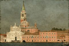 St. George church in Venice - Vintage Stock Photo