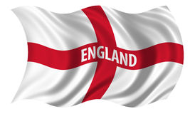 St George Cross. Flag of the Patron Saint of England, St George, billowing in the wind Stock Image