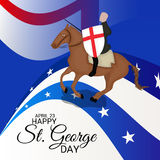 St George Day Images stock