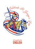 St. George Day Celebration Proud om Engelse Retro Affiche te zijn Royalty-vrije Stock Afbeeldingen
