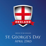 St George Day England flag shield banner or poster Stock Image