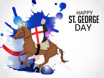 St. George Day. Illustration of a Banner for St. George Day Stock Image