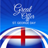 St. George Day. Illustration of a Banner for St. George Day Stock Photography