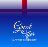 St. George Day. Illustration of a Banner for St. George Day Royalty Free Stock Photo