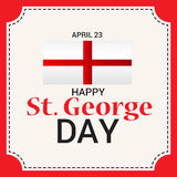 St. George Day. Illustration of a Banner for St. George Day Stock Images