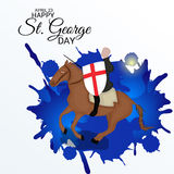 St. George Day. Illustration of a Banner for St. George Day Stock Photo