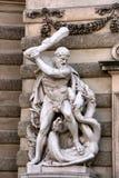 St. George die een draak doodt Stock Fotografie