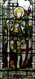 St. George with the dragon in stained glass Stock Photography
