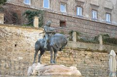 St. George and the Dragon statue in Zagreb Royalty Free Stock Images