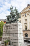 St. George and the Dragon, Stockholm Royalty Free Stock Photos