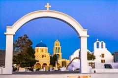 St George Ekklisia Kościelni ażio Georgios Oia, Santorini, Greec obrazy stock