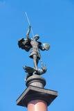 St George a estátua vitorioso no quadrado 12 de Trubnaya 08 2017 Fotografia de Stock