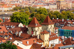 St George et x27 ; basilique de s au château de Prague Prague, République Tchèque Photos stock
