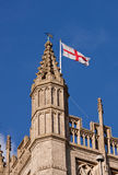 St. George Flag on Bath Abbey Royalty Free Stock Photography