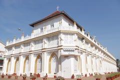 St. George Forane Church, Edathua. Back view of St. George Forane Church located in Edathua in Alappuzha district of Kerala, India stock image