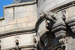 St George gate - Vendôme - France. A gargoyle decorates the facade of the St George gate in Vendôme (France). Une gargouille décore la façade de la royalty free stock photos