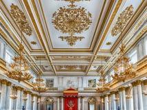 St George Hall, eremu muzeum, St Petersburg, Rosja Obraz Stock