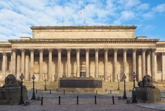 St George Hall in Liverpool. St George Hall concert halls and law courts on Lime Street in Liverpool, UK royalty free stock images