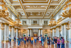 St George Hall, Museo dell'Ermitage, St Petersburg, Russia Fotografia Stock