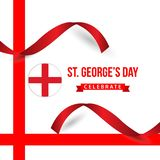 St George ' il giorno di s celebra l'illustrazione di progettazione del modello di vettore illustrazione di stock