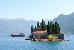 St George Island, baie de Kotor, Monténégro Images stock