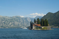 St. George Island. Bay of Kotor, Montenegro Royalty Free Stock Image