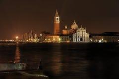 St George Island bij Nacht - Venetië Royalty-vrije Stock Fotografie