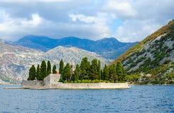 St George Island Island de muertos, bahía de Kotor, Montenegro Imagen de archivo