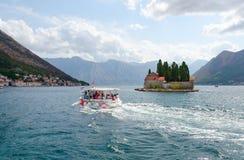St George Island Island de muertos, Perast, bahía de Kotor, Montenegro Imagenes de archivo