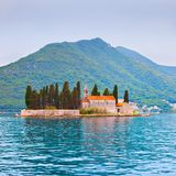 St. George Island in the Kotor Bay Royalty Free Stock Photos