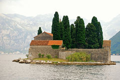 St. George Island in Kotor bay(Montenegro) Royalty Free Stock Images