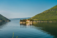 St.George Island. In Montenegro at early morning Stock Photos