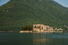 St.George Island. In Montenegro at early morning Stock Images