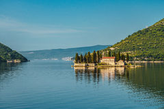 St.George Island. In Montenegro at early morning Royalty Free Stock Photos