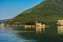 St.George Island. In Montenegro at early morning Royalty Free Stock Image