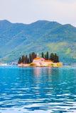 St. George Island in Montenegro stock photos