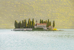 St.George Island near Perast in Bay of Kotor, Montenegro Stock Photography