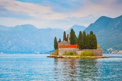 St. George Island in the Kotor Bay Stock Photo