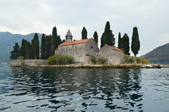 St George Islet in the bay of Kotor, Montenegro royalty free stock photo