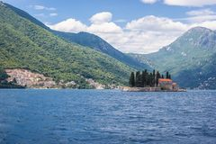 Saint George islet in Montenegro. St George islet in the Kotor Bay, Montenegro royalty free stock images