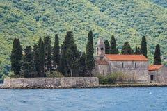 Saint George islet in Montenegro. St George islet in the Kotor Bay, near Perast town, Montenegro royalty free stock photos