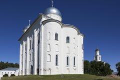 St George Kathedraalst George Klooster Velikiy Novgorod stock afbeeldingen