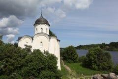 St George Kathedrale. Staraya Ladoga Stockfotografie