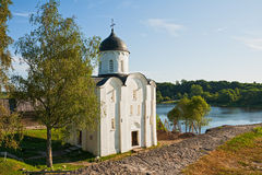 St George Kerk in Staraya Ladoga royalty-vrije stock foto