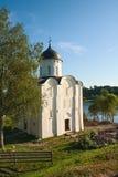 St George Kerk in Staraya Ladoga Stock Foto's