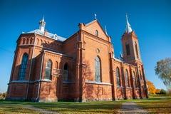 St George kościół katolicki w Zasliai zdjęcia royalty free