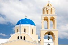 St George Kościelny Oia Santorini Greec obraz stock